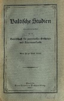 Baltische Studien. Neue Folge Bd. 39 (1937)