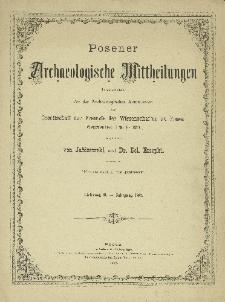 Posener Archaeologische Mittheilungen Jg. 2 (1887)