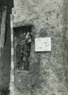 Grave 1-85, burial cut with child skeleton