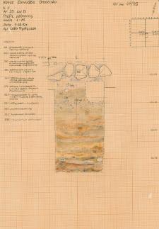 KZG, V 20 B, profil archeologiczny N wykopu
