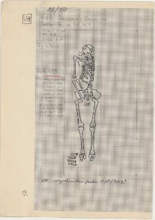 KZG, VI 201 C, plan archeologiczny wykopu, cmentarz (grób 9/59)