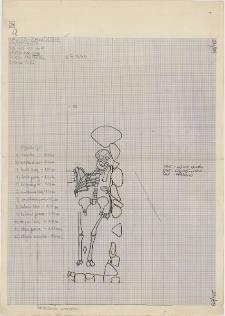 KZG, VI 401 A, plan archeologiczny wykopu, cmentarz (grób 3/59)