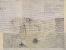 KZG, V 15 C D, plan archeologiczny wykopu, cmentarz (groby 15/60 i 16/60)