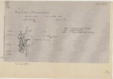 KZG, VI 302 D, plan archeologiczny wykopu, cmentarz (grób 1a/60)