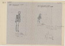 KZG, VI 402 D, plan archeologiczny wykopu, cmentarz (groby 13/60 i 14/60)