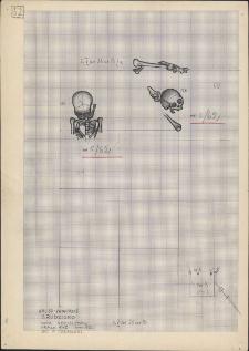 KZG, V 25 B, plan archeologiczny wykopu, cmentarz (groby 5/62 i 6/62)