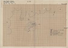 KZG, VI 401 C, plan archeologiczny wykopu, grób 1-88