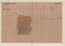 KZG, VI 401 D, plan archeologiczny wykopu