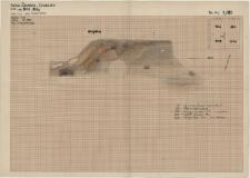 KZG, VI 401 B, 402 A, profil archeologiczny E wykopu