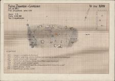 KZG, V 25 D, profil archeologiczny wykopu, grób 5-89
