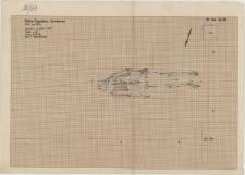 KZG, VI 401 C, plan archeologiczny wykopu, grób 4-89 (szkielet)