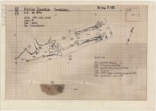 KZG, VI 501 A, plan archeologiczny i profil wykopu, grób 1-89