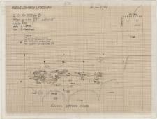 KZG, VI 302 D, plan archeologiczny wykopu, grób 1/91