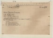 KZG, VI 302 D, profil archeologiczny wykopu, grób 1/91
