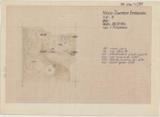 KZG, VI 302 A, plan archeologiczny wykopu, grób 6/91