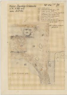 KZG, VI 302 C, plan archeologiczny wykopu, groby 3-91, 6-91
