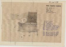 KZG, VI 302 C, plan archeologiczny wykopu, groby 4-91, 6-91