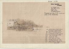 KZG, VI 302 C, profil archeologiczny zachodni wykopu, groby 4-91, 5-91