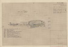 KZG, VI 302 A C, profil archeologiczny wykopu, grób 3-91