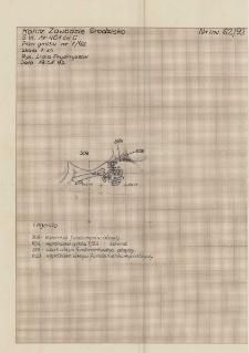 KZG, VI 401 C, plan archeologiczny wykopu, grób 7-92