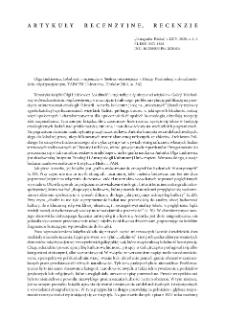 Lokalność i nacjonalizm. Społeczności wiejskie w Galicji Wschodniej w dwudziestoleciu międzywojennym, Olga Linkiewicz , Kraków 2018 : [recenzja]