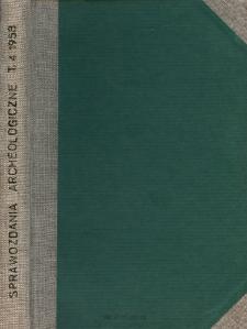 Sprawozdanie z prac wykopaliskowych w Mogile (Nowa Huta) w 1955 roku