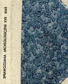 Sprawozdanie z badań wykopaliskowych w Wieliczce, pow. Kraków, w 1963 roku