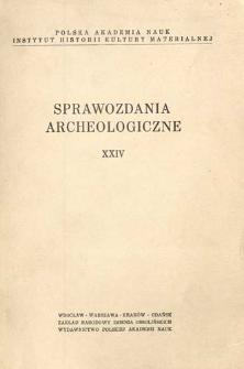 Z badań nad ceramiką wczesnośredniowieczną w Kaszowie, pow. Milicz