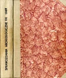 Osada z przełomu epoki brązu i żelaza w Będzieszynie, pow. Gdańsk. Sprawozdanie z badań w 1966 roku