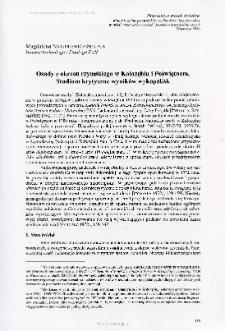 Osady z okresu rzymskiego w Kołozębiu i Poświętnem : studium krytyczne wyników wykopalisk