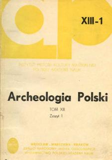 Niektóre aspekty kontaktów słowiańsko-bałtyjskich w świetle wyników badań w Szeligach, pow. Płock