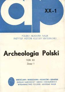 Zarys rozwoju polskich badań nad paleolitem i mezolitem w latach 1945-1973