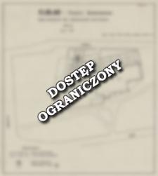 Elbląg - Klasztor Dominikanów. Szkic sytuacyjny prac archeologiczno-geofizycznych
