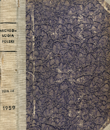 Archeologia Polski. Vol. 4 (1960) No 2, Reviews