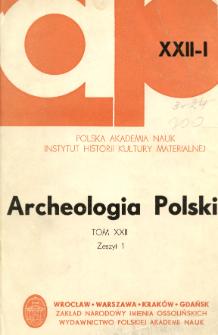 Archeologia Polski. Vol. 22 (1977) No 1, Kronika