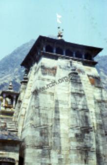 Fragment świątyni w Kedarnath (Dokument ikonograficzny)
