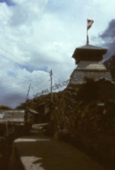 Kedarnath temple in the Himalaya (Iconographic document)