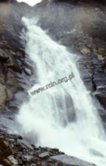 Mountain waterfall in the Himalaya (Iconographic document)