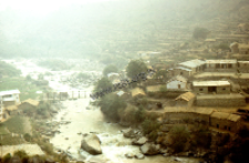 The village in the Himalayas (Iconographic document)