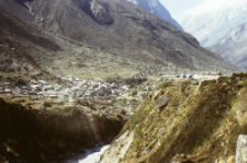 Road to Badrinath in the Himalayas (Iconographic document)
