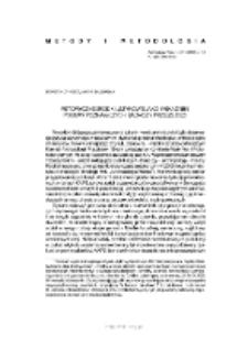 Retoryczne środki językowe jako wskaźniki postaw poznawczych badaczy przeszłości
