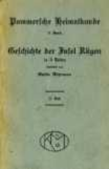 Geschichte der Insel Rügen. T. 2, Von Ende des 16. Jahrhunderts bis zur Neuzeit