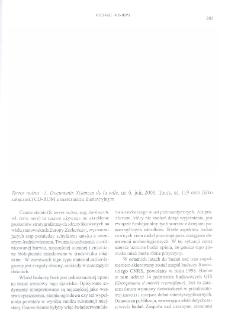 Terres noires - 1, Documents Sciences de la ville, no 6, juin 2000, Tours oraz (jako załącznik) CD-ROM z materiałem ilustracyjnym : [recenzja]