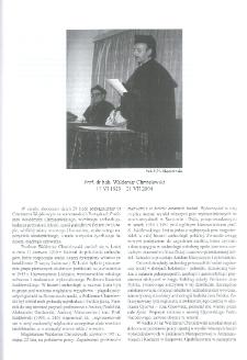 Prof. dr hab. Waldemar Chmielewski (17 VI 1929 - 21 VII 2004)
