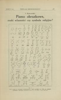 Pismo obrazkowe : znaki własności czy symbole religijne?