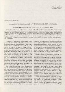 Stratygrafia archeologiczna w świetle poglądów E. C. Harrisa