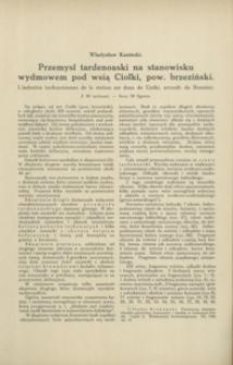 Przemysł tardenoaski na stanowisku wydmowem pod wsią Ciołki, pow. brzeziński