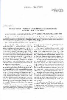 Figurki Wenus - Wytwory magdaleńskiej sztuki ruchomej z Wilczyc, pow. Sandomierz