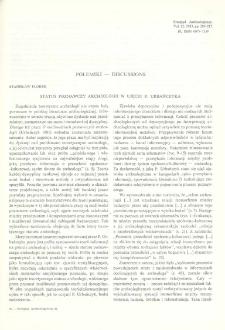 Status poznawczy archeologii w ujęciu P. Urbańczyka