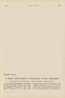 Z badań ratowniczych w Ostrowążu w pow. konińskim